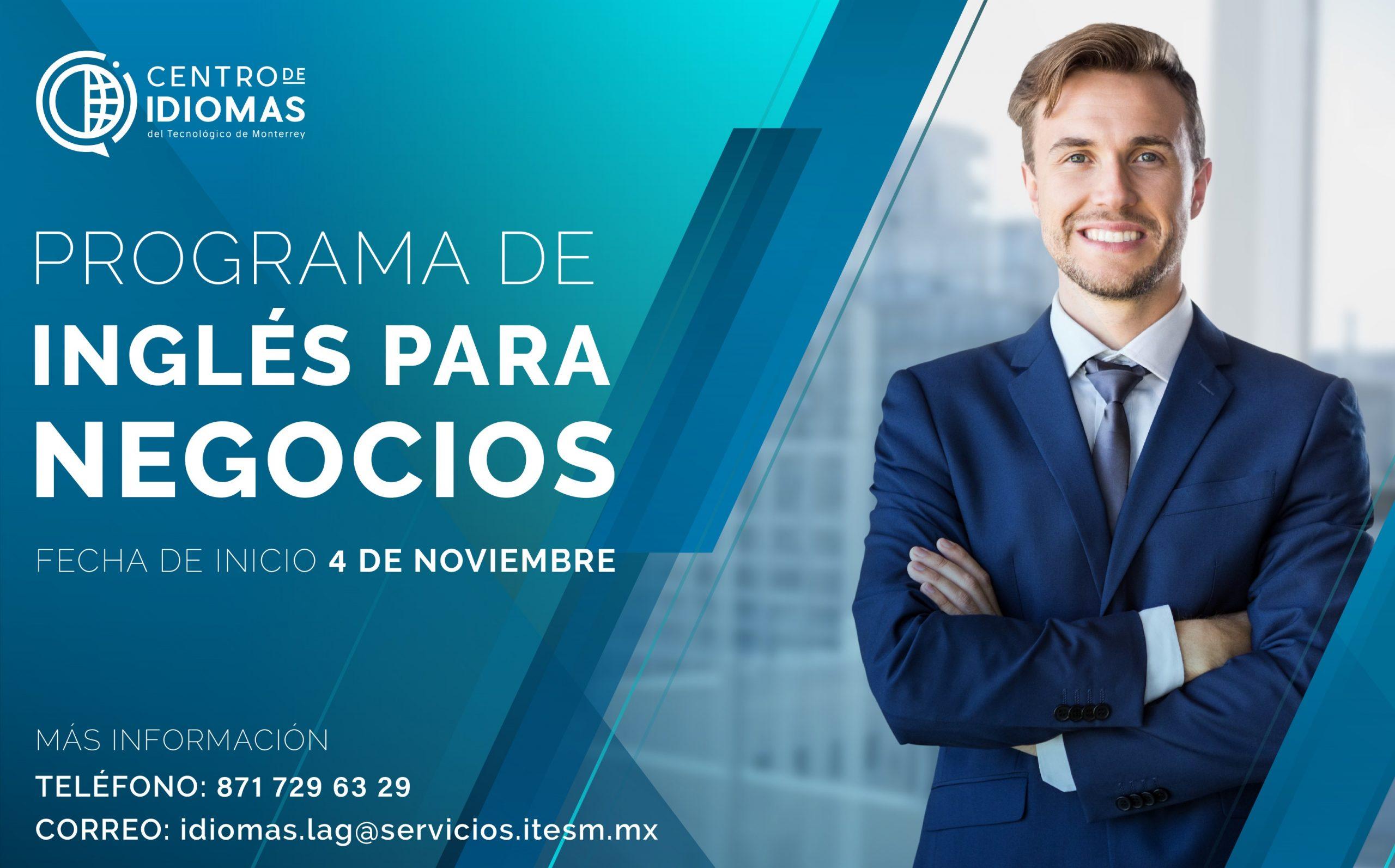 Flyer Programa Inglés Para Negocios